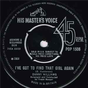 Danny Williams - I've Got To Find That Girl Again mp3